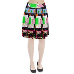 Colorful Facroty Pleated Skirt