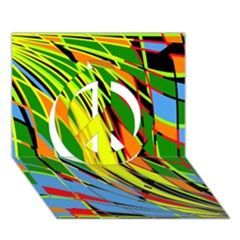 Jungle Peace Sign 3D Greeting Card (7x5)