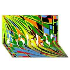 Jungle SORRY 3D Greeting Card (8x4)