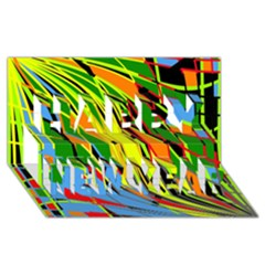 Jungle Happy New Year 3D Greeting Card (8x4)