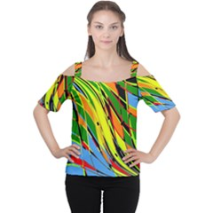 Jungle Women s Cutout Shoulder Tee