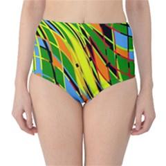 Jungle High-Waist Bikini Bottoms
