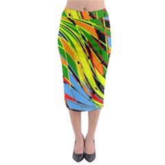 Jungle Midi Pencil Skirt