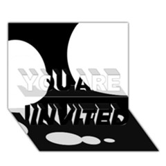 Black and white moonlight YOU ARE INVITED 3D Greeting Card (7x5)