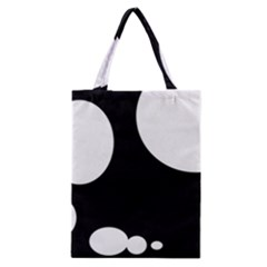 Black and white moonlight Classic Tote Bag