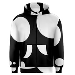 Black and white moonlight Men s Zipper Hoodie