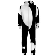 Black and white moonlight Hooded Jumpsuit (Men)