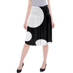 Black and white moonlight Midi Beach Skirt