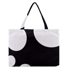 Black and white moonlight Medium Zipper Tote Bag