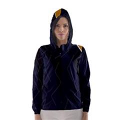 Digital abstraction Hooded Wind Breaker (Women)