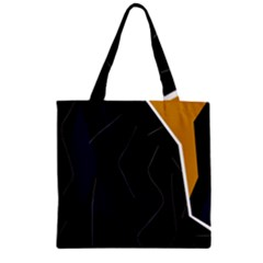 Digital abstraction Zipper Grocery Tote Bag
