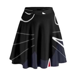 Big cat High Waist Skirt