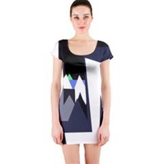 Glacier Short Sleeve Bodycon Dress