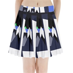 Glacier Pleated Mini Skirt