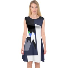 Glacier Capsleeve Midi Dress