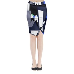 Glacier Midi Wrap Pencil Skirt