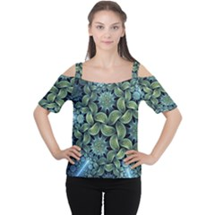 Blue Lotus Women s Cutout Shoulder Tee