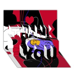 Love THANK YOU 3D Greeting Card (7x5)