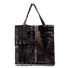 Black technology Circuit Board Electronic Computer Grocery Tote Bag