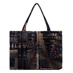 Black technology Circuit Board Electronic Computer Medium Tote Bag