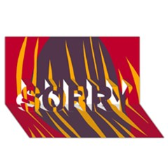 Fire SORRY 3D Greeting Card (8x4)