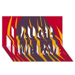 Fire Laugh Live Love 3D Greeting Card (8x4)