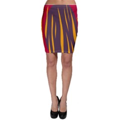Fire Bodycon Skirt