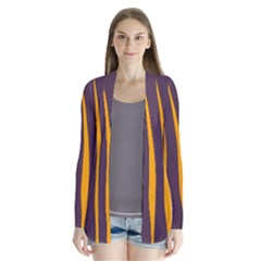 Fire Drape Collar Cardigan