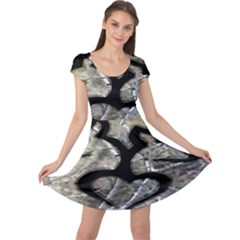 Black Love Browning Deer Camo Cap Sleeve Dresses
