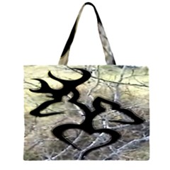 Black Love Browning Deer Camo Large Tote Bag