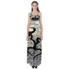 Black Love Browning Deer Camo Empire Waist Maxi Dress