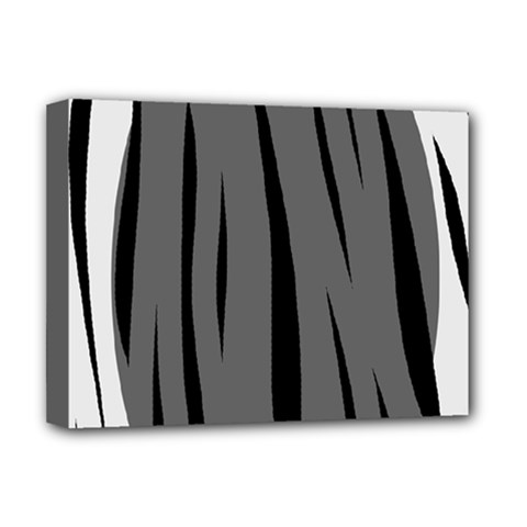 Gray, black and white design Deluxe Canvas 16  x 12