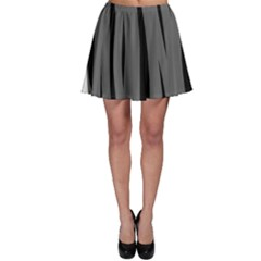 Gray, black and white design Skater Skirt