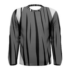 Gray, black and white design Men s Long Sleeve Tee