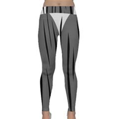 Gray, black and white design Yoga Leggings