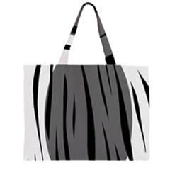 Gray, black and white design Large Tote Bag