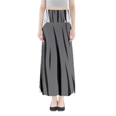 Gray, black and white design Maxi Skirts