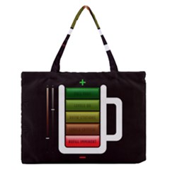 Black Energy Battery Life Medium Zipper Tote Bag