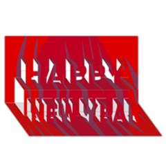 Hot lava Happy New Year 3D Greeting Card (8x4)