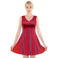 Hot lava V-Neck Sleeveless Skater Dress