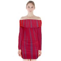 Hot Lava Long Sleeve Off Shoulder Dress