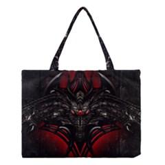 Black Dragon Grunge Medium Tote Bag
