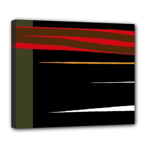 Colorful lines  Deluxe Canvas 24  x 20