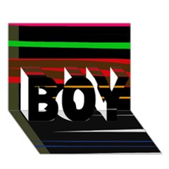 Colorful lines  BOY 3D Greeting Card (7x5)