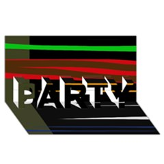 Colorful lines  PARTY 3D Greeting Card (8x4)