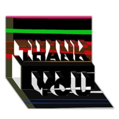 Colorful lines  THANK YOU 3D Greeting Card (7x5)