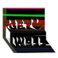 Colorful lines  Get Well 3D Greeting Card (7x5)