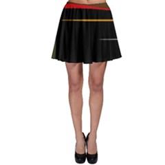 Colorful lines  Skater Skirt