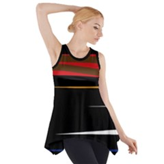 Colorful lines  Side Drop Tank Tunic