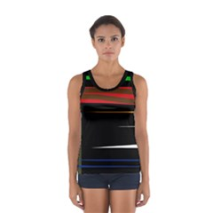 Colorful lines  Women s Sport Tank Top